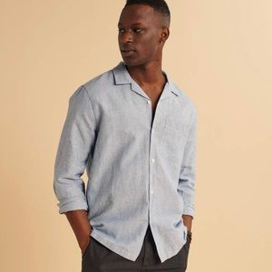 Abercrombie & Fitch Linen-Blend camp collar shirt